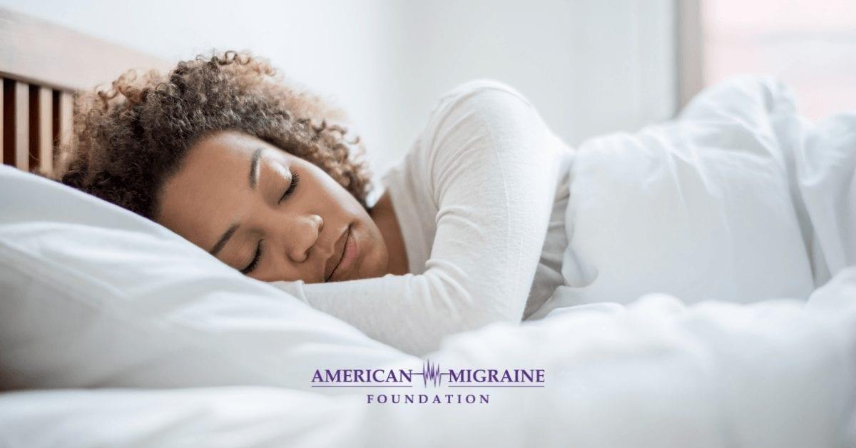 woman with healthy sleep habits