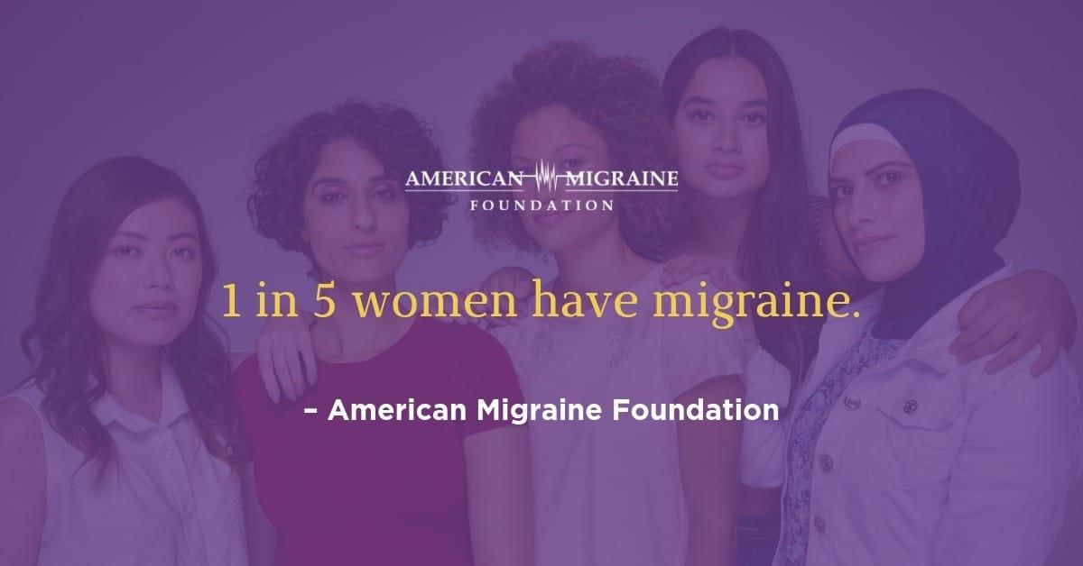 1 in 5 women have migraine